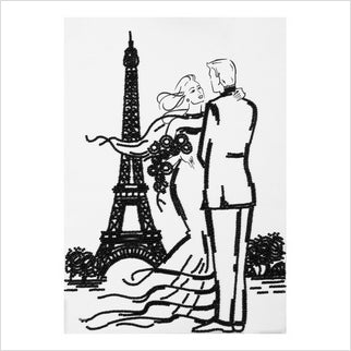 """Meeting in Paris"" Bead Embroidery"