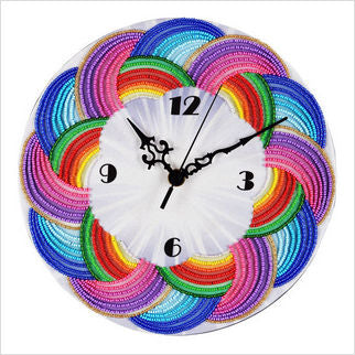 Bead Embroidery Clock