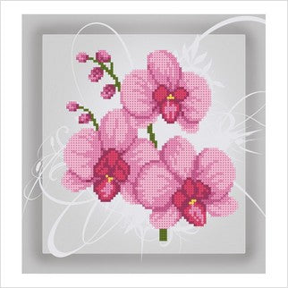 """Orchid"" Bead Embroidery"