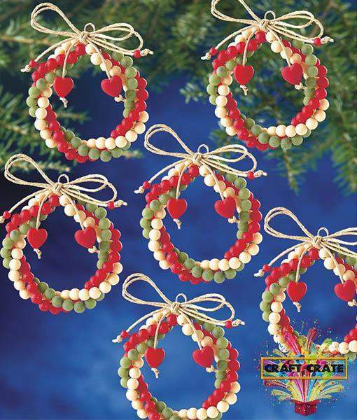 Beaded Christmas Ornament Kit-simple-Craft Crate UK-Craft Crate