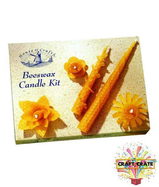 Beeswax Candle Kit-simple-Craft Crate UK-Craft Crate