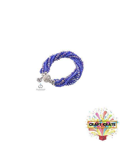 Bracelet Jewellery Kit-simple-Craft Crate UK-Dark Sapphire Blue-Craft Crate