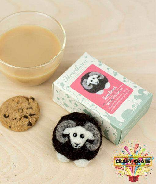 Brooch Kit - Black Sheep-simple-Craft Crate UK-Craft Crate