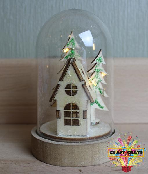 Christmas Scene Dome-simple-Craft Crate UK-Craft Crate