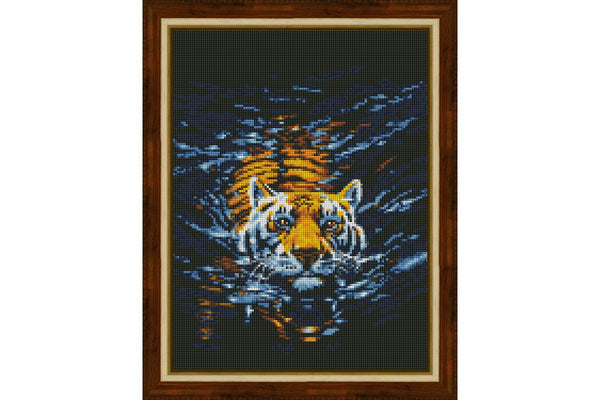 Wizardi Diamond Painting Swimming Tiger