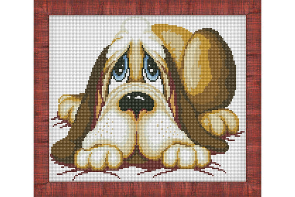 Wizardi Diamond Painting Sleepy dog