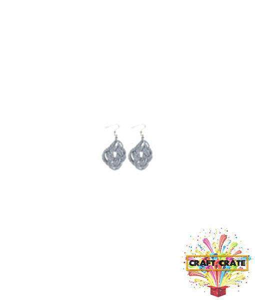 Earrings Jewellery Kit-simple-Craft Crate UK-Grey-Craft Crate