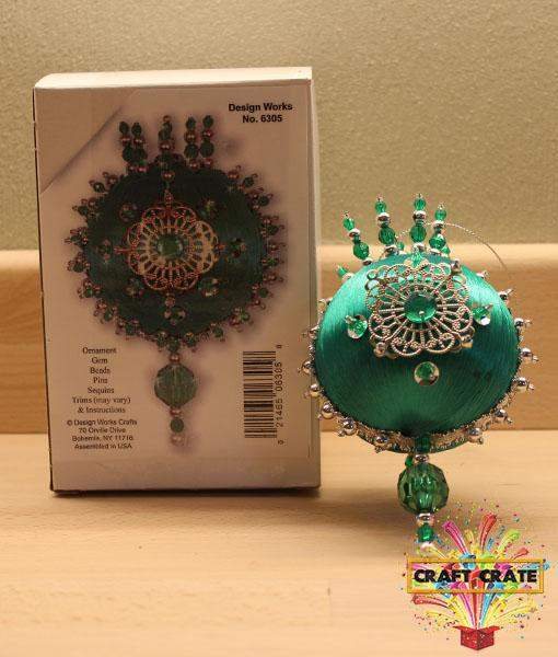 Emerald Heirloom Ornament-simple-Craft Crate UK-Craft Crate