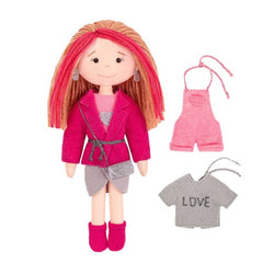 Miadolla Lea Doll with changeable clothes Sewing Craft Kit - Scandinavian Style