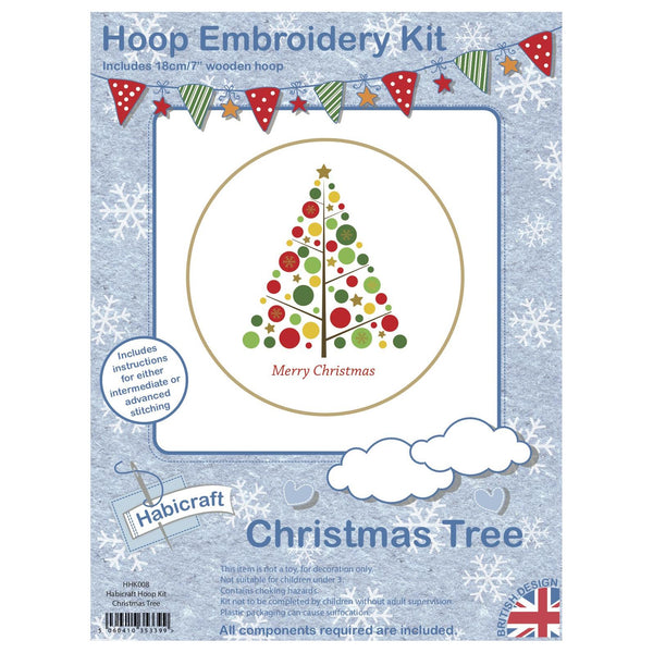 Habicraft Hoop Embroidery Kit Christmas Tree HHK008