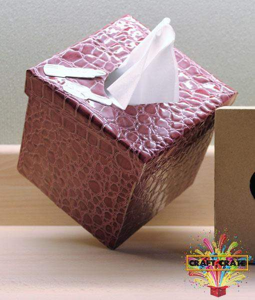 Mache Boutique Tissue Box-simple-Craft Crate UK-Craft Crate