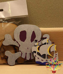MDF Kit-simple-Craft Crate UK-Skull & Crossbones-Craft Crate