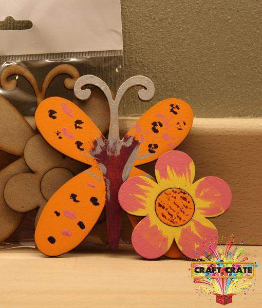 MDF Kit-simple-Craft Crate UK-Butterfly & Flower-Craft Crate