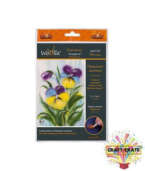 Painting With Wool-simple-Craft Crate UK-Pansies-Craft Crate