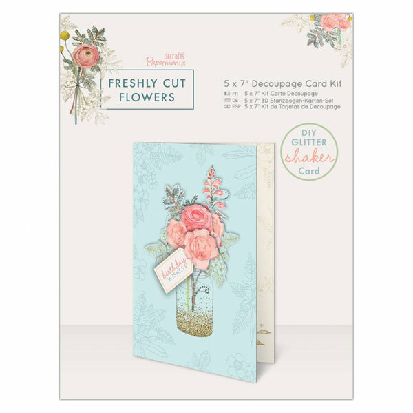 Papermania Freshly Cut Flowers Decoupage Card Kit