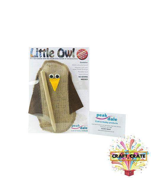 """Rag Rugging"" Little Owl Kit-simple-Craft Crate UK-Craft Crate"