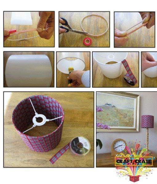 Ribbon Lamp Shade Kit-simple-Craft Crate UK-Craft Crate