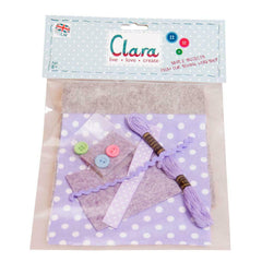 Clara Create Felt Purse and Heart Keyring Sewing Kit