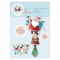 Hanging Decoupage Card Kit - At Home With Santa