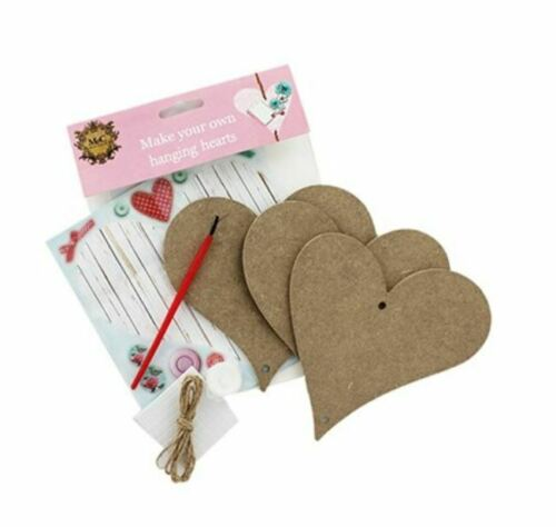 Wooden Hanging Hearts Craft Kit