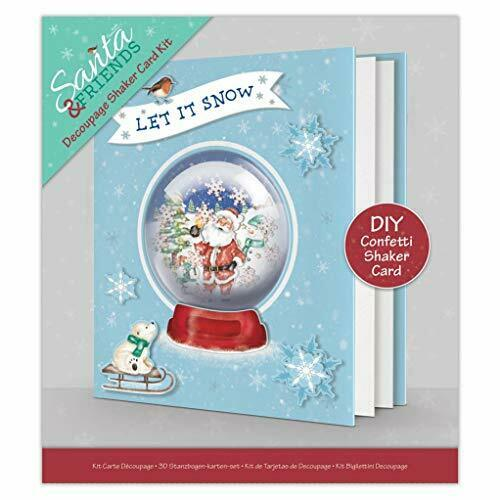 Decoupage Shaker Card Kit - Santa & friends
