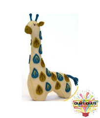 Sewing Kit-simple-Craft Crate UK-Felt Giraffe-Craft Crate