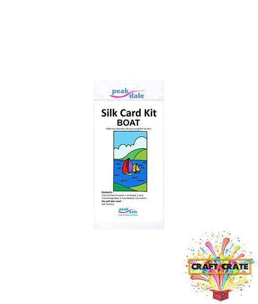 Silk Card Kit-simple-Craft Crate UK-Boats-Craft Crate