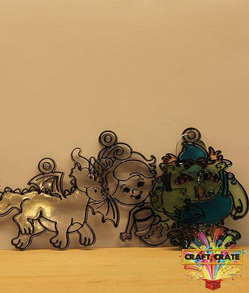 Sun Catchers Kit-simple-Craft Crate UK-Magical Creatures-Craft Crate
