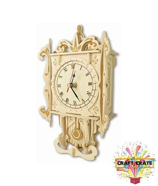 Wooden Construction Kit - Pendulum Clock-simple-Craft Crate UK-Craft Crate
