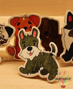 Wooden Puppy Keyring-simple-Craft Crate UK-Craft Crate