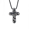 travel inspired small unique rough sterling silver Eon cross pendant