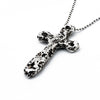 travel inspired large unique rough sterling silver Eon cross pendant