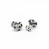 travel inspired modern men's sterling silver rough ball return round Eon Cufflinks