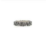 tree bark texture sterling silver husk ring 6mm alternative wedding ring