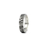 tree bark texture sterling silver husk ring 6mm