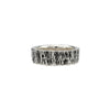 tree bark texture sterling silver husk ring 8mm alternative wedding band