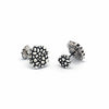 travel inspired modern men's sterling silver Wanderer ball return round Cufflinks cobblestone steps