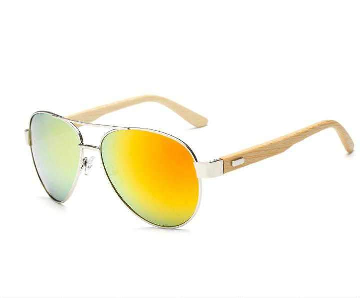 Aviator Bamboo Sunglasses-Flashpacker
