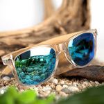 Bali Bamboo Sunglasses (Clear Frame Polarized)-Flashpacker