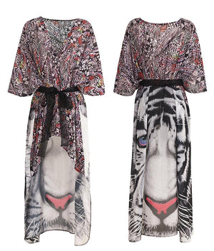 Big Cat Kaftan Cover-up-Flashpacker