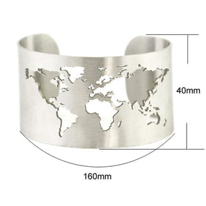 World Map Cuff Bangle-Flashpacker