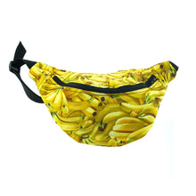 cotton bumbag - BANANA 100% cotton bumbag fanny pack turquoise ykk zipper Waist Pouch from beksies boutique