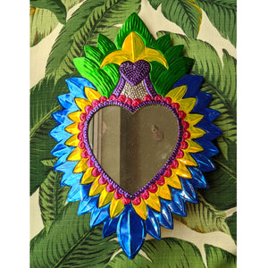 "Heart Mirror ""BLUE"" was £35 now £25"