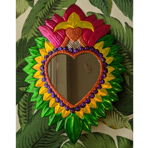 "Heart Mirror ""Green"" was £35 now £25"