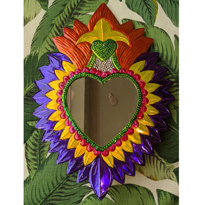 "Heart Mirror ""Purple"" was £35 now £25"