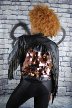 Backpack - RIZZO backpack, gold sequins. Black quilted pleather. Waist Pouch from beksies boutique