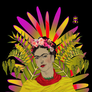 Wall Hangings 'FRIDA on Black' Original illustration - beksiesboutique