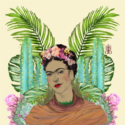 Wall Hangings 'FRIDA on Vanilla' Original illustration - beksiesboutique