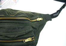 Large Bumbag - Olive Wax Bags, small and large Waist Pouch from beksies boutique