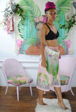 Organic bumbag - Plants on Pink festival  fanny pack, waist pouch, bum bag. Waist Pouch from beksies boutique